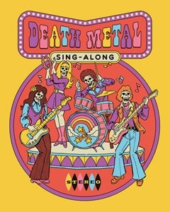 Steven Rhodes: Death Metal Sing Along Canvas Print - 1