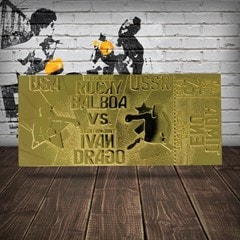 Rocky IV Ivan Drago Fight Ticket: 24K Gold Plated Limited Edition Collectible - 2
