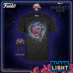 Blacklight Black Panther Pop & Tee (Small) - 1