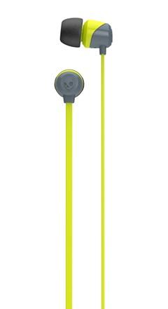 Skullcandy Jib Grey/Hot Lime Earphones - 2