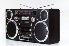 GPO Brooklyn Black Portable Boombox - 2