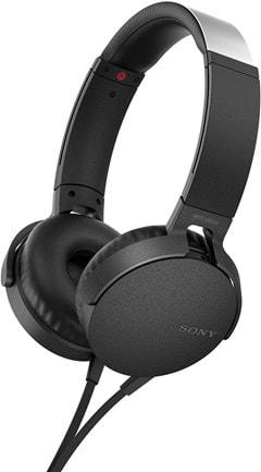 Sony XB550AP Black Extra Bass Headphones - 1