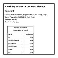Pokemon (Pikachu) Ocean Bomb: Cucumber Flavour Sparkling Water: Case Of 24 - 3