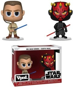 Obi Wan and Darth Maul Bobbleheads: Star Wars Vnyl - 1