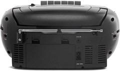 GPO Black CD & Cassette Player w/ AM/FM Radio - 4
