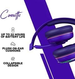Skullcandy Cassette Retro Surf Purple Bluetooth Headphones - 3