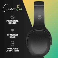 Skullcandy Crusher Evo True Black Bluetooth Headphones - 3