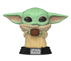 The Mandalorian: The Child With Cup - Baby Yoda (378) Star Wars Pop Vinyl - 1