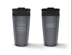 Metal Travel Mug: Game Of Thrones (I Drink And I Know Things) - 1