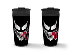 Metal Travel Mug: Venom: Face - 1