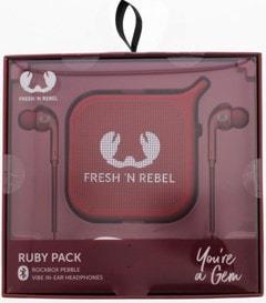 Fresh N Rebel Gift Pack Ruby: Vibe Earphones & Pebble Bluetooth Speaker - 1