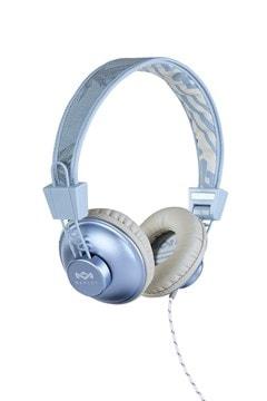 House Of Marley Positive Vibration Blue Hemp Headphones W/Mic (hmv Exclusive) - 1