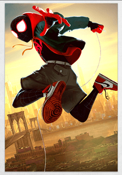 Spiderman: Into The Spiderverse Limited Edition Fine Art Print - 1
