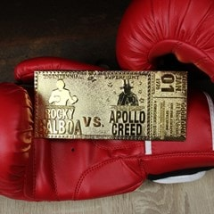 Rocky 45th Anniversary Fight Ticket: 24K Gold Plated Limited Edition Collectible - 3