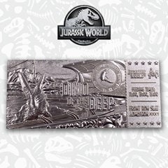Jurassic World: Mosasaurus Silver Plated Metal Replica Ticket (online only) - 1