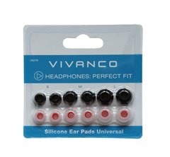 Vivanco Universal Silicone Replacement Earbuds - 1