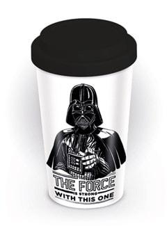 Star Wars The Force Is Strong Darth Vader Travel Mug - 1