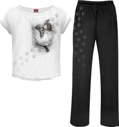 Pocket Kitten 4-Piece Women's Pyjama Set (Extra Large) - 1