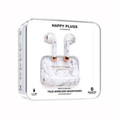 Happy Plugs Air1 White Marble True Wireless Bluetooth Headset - 3