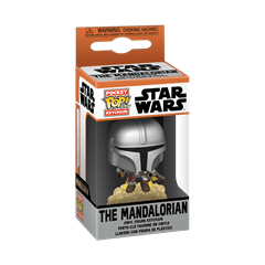 The Mandalorian With Blaster: The Mandalorian: Star Wars Pop Vinyl Key Chain - 2