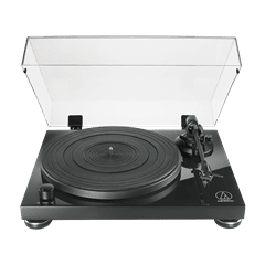 Audio Technica AT-LPW50 Wood Base Piano Black Turntable - 1