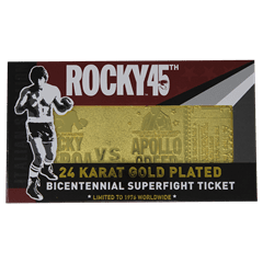 Rocky 45th Anniversary Fight Ticket: 24K Gold Plated Limited Edition Collectible - 5