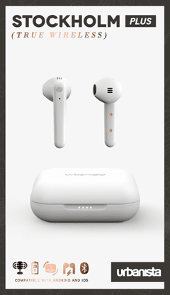 Urbanista Stockholm Plus Fluffy Cloud True Wireless Bluetooth Earphones - 4