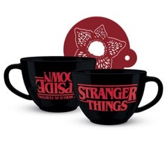 Stranger Things: The World Is Turning Upside Down Cappuccino Mug & Stencil - 1