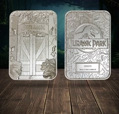 Jurassic Park: Entrance Gates Silver Plated Collectible - 5