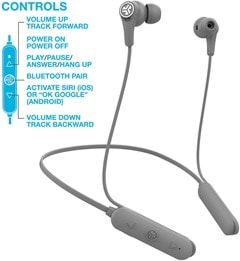 J-Lab Epic Executive Grey Active Noise Cancelling  Bluetooth Earphones - 3
