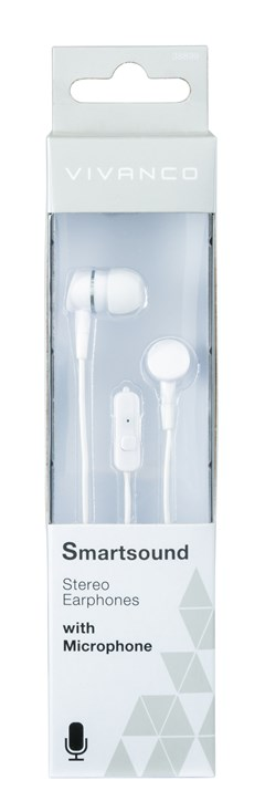 Vivanco Smartsound White Earphones W/Mic - 2