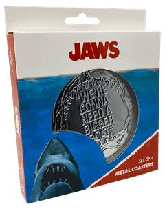 Jaws: Metal Embossed Coaster Set - 4