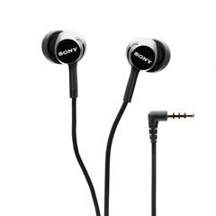 Sony MDREX155AP Black Earphones w/Mic - 1