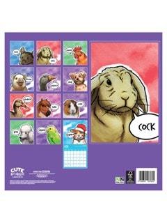 Cute But Abusive: Square 2022 Calendar - 3