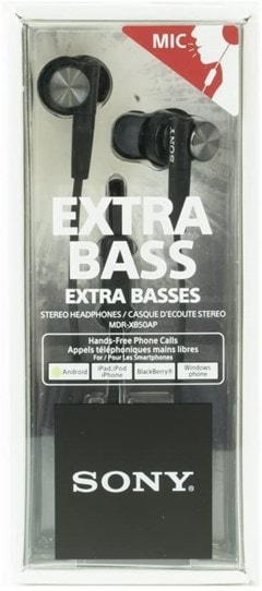 Sony XB50AP Black Extra Bass Earphones - 3