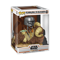Mando on Bantha with Child (416) The Mandalorian: Star Wars Deluxe Pop Vinyl - 2