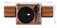 Crosley C62 Walnut Turntable & Speakers - 6