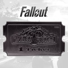 Fallout: Nuka World: Silver Plated Ticket Metal Replica (online only) - 1