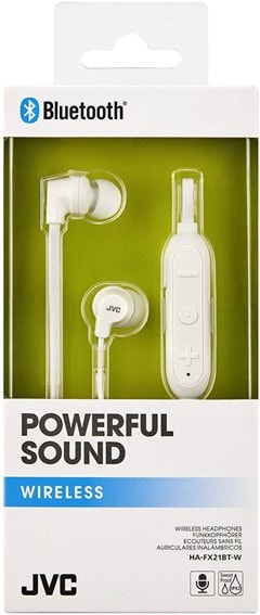 JVC HA-FX21BT White Bluetooth Sports Earphones - 3