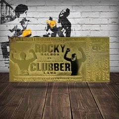Rocky III Clubber Lang Fight Ticket: 24K Gold Plated Limited Edition Collectible - 2