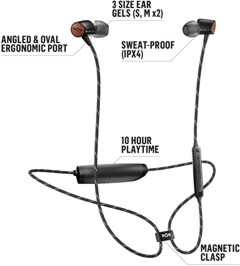 House Of Marley Uplift 2 Signature Black Bluetooth Earphones - 2