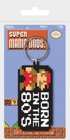 Super Mario Bros Born In The 80's Keyring - 1
