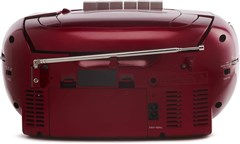 GPO PCD299 Red CD & Cassette Player with AM/FM Radio - 3