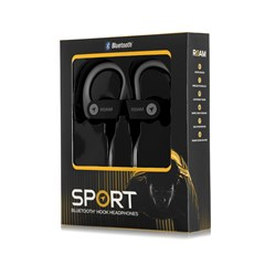 Roam Sport Ear Hook Black Bluetooth Earphones - 3