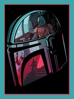 Star Wars: The Mandalorian: Helmet Section Canvas Print - 1