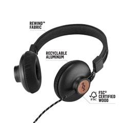 House Of Marley Positive Vibration 2.0 Signature Black Headphones w/Mic - 3