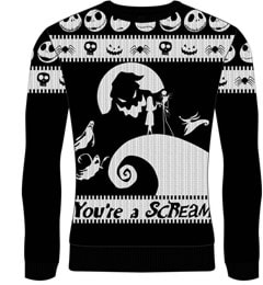You're A Scream: The Nightmare Before Christmas Christmas Jumper (Small) - 1