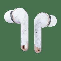 Happy Plugs Air1 Plus White Marble In Ear True Wireless Bluetooth Earphones - 4