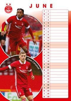 Aberdeen FC: Football A3 2021 Calendar - 2