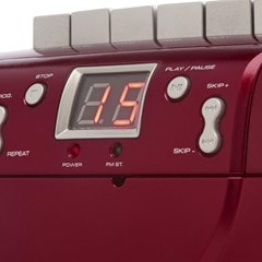 GPO PCD299 Red CD & Cassette Player with AM/FM Radio - 4